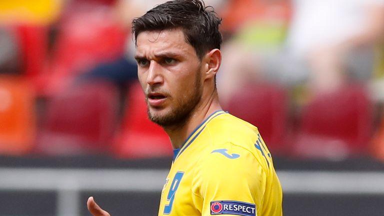 Ukraine striker Roman Yaermchuk (AP)