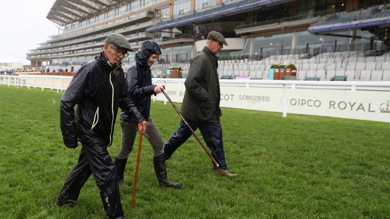 An inspection of the ground at Ascot took place on Friday afternoon