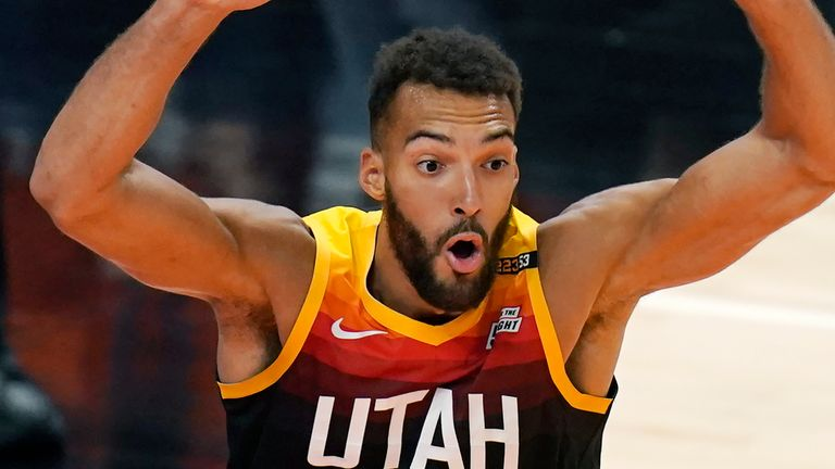 Defensive Player of the Year Rudy Gobert was a unanimous selection. (AP)