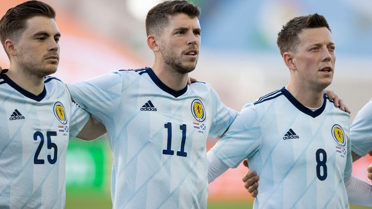 Ryan Christie (centre) started in Scotland's 2-2 draw against the Netherlands on Wednesday