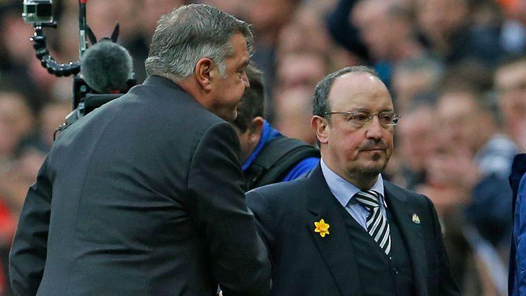 Sam Allardyce and Rafa Benitez