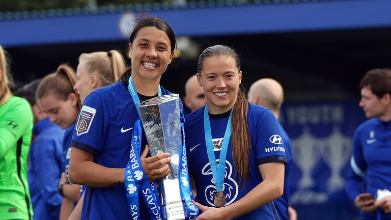 Fran Kirby and Sam Kerr's strike partnership fired Chelsea to their fourth WSL title
