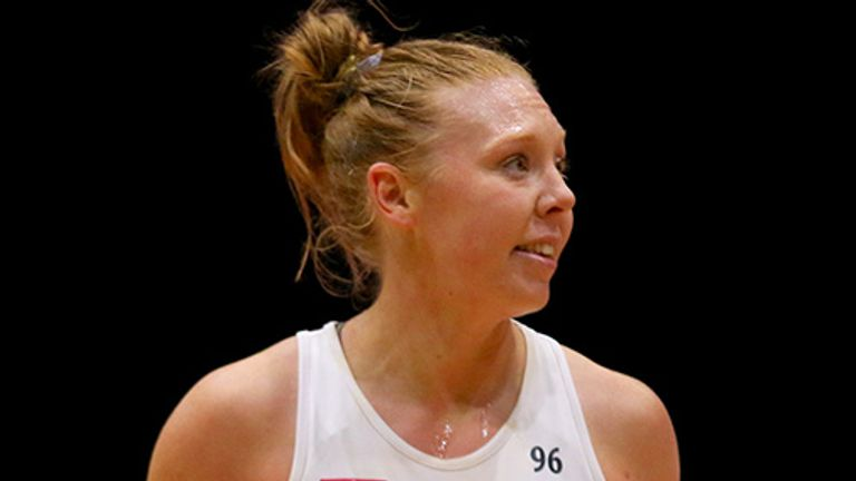 Sam May will step away from a professional netball court at the end of the season (Image credit - Ben Lumley)
