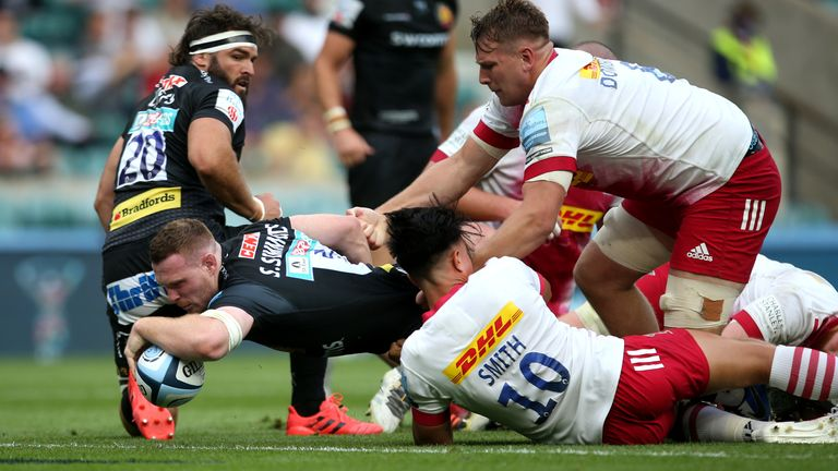 Sam Simmonds got Exeter back into the contest with a powerful try