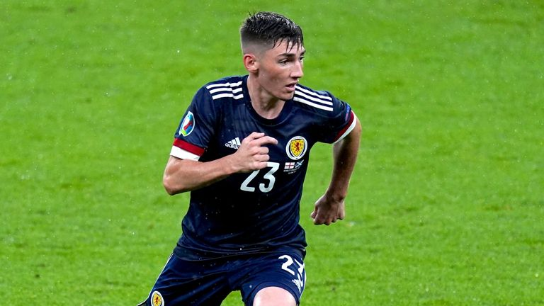 Billy Gilmour put in a stand-out performance against England on his first start for Scotland