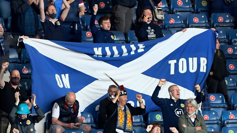 Scotland supporters are being urged not to travel to London without tickets (AP)