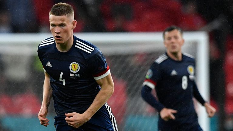 Scott McTominay in action for Scotland at Euro 2020