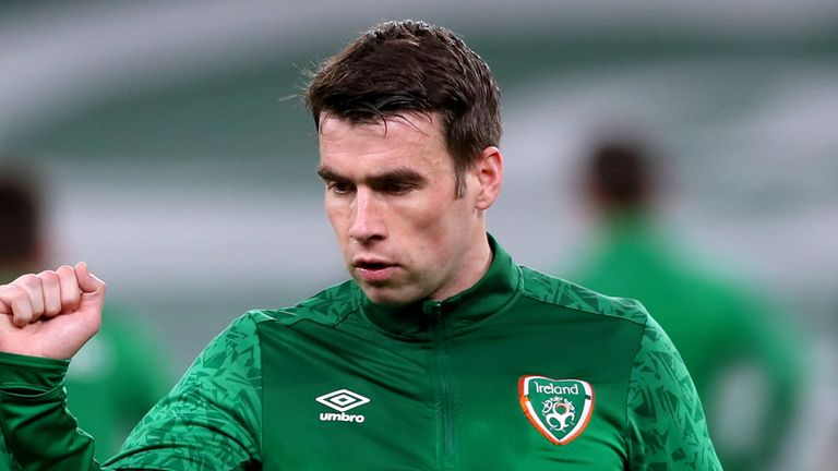Seamus Coleman has returned home with a hamstring injury