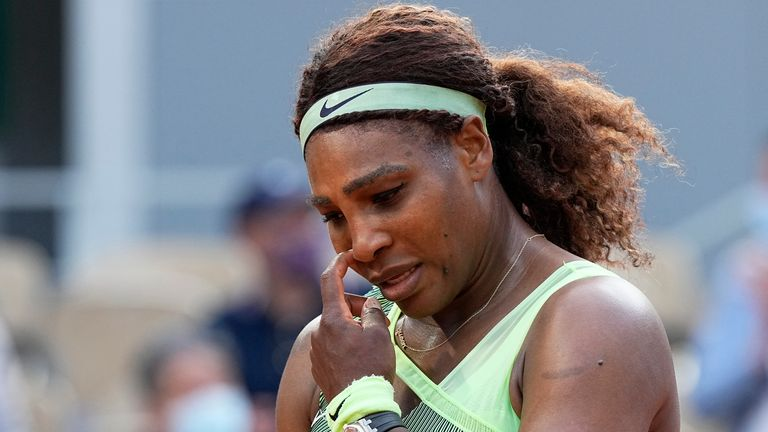 Serena Williams prevailed in the first evening match at Roland Garros last Monday