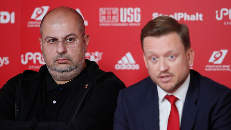 Sheffield United chief executive Stephen Bettis with owner Prince Abdullah