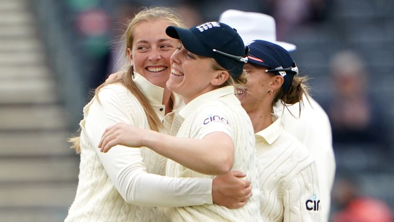 Sophie Ecclestone took four wickets for England