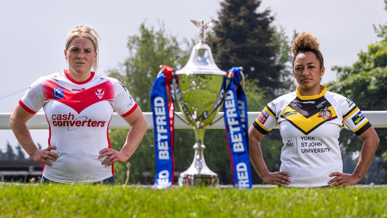 St Helens face York at the Leigh Sports Village on Saturday, as part of a triple-header with the men's semi-finals