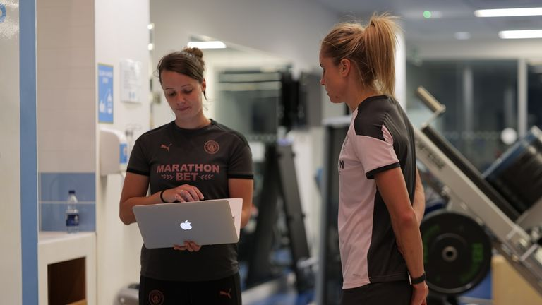 Manchester City and England captain Steph Houghton is just one of the players involved in the project with the English Institute of Sport (EIS)