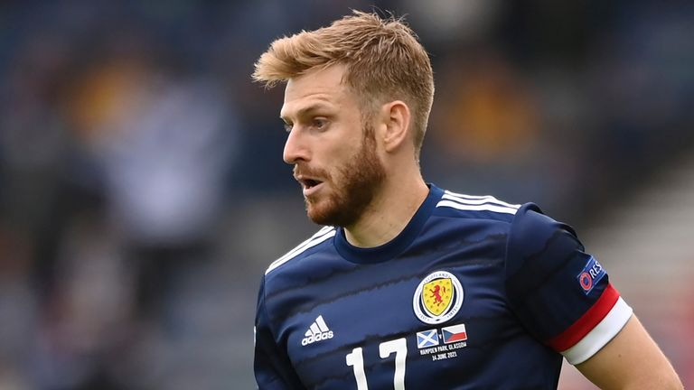 Stuart Armstrong in action for Scotland at Euro 2020