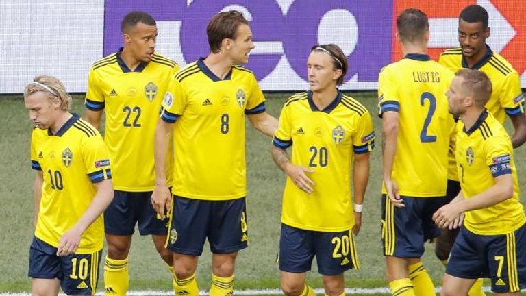 Sweden scored early against Poland