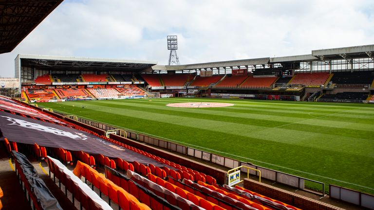 SNS - DUNDEE, SCOTLAND - MAY 12: A General View of Tannadice during the Scottish Premiership match between Dundee United and Motherwell at Tannadice Park on May 12, 2021, in Dundee, Scotland. (Photo by Bruce White / SNS Group)