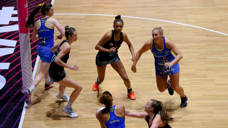 Team Bath Netball's are the only semi-finalist to regularly play with a rotating circle (Image credit - Ben Lumley)