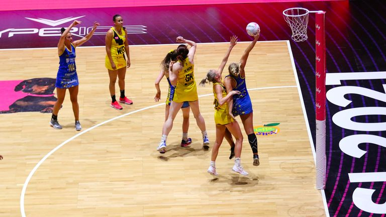 Team Bath Netball were outstanding in attack and found their way after a slow start (Image credit - Ben Lumley)