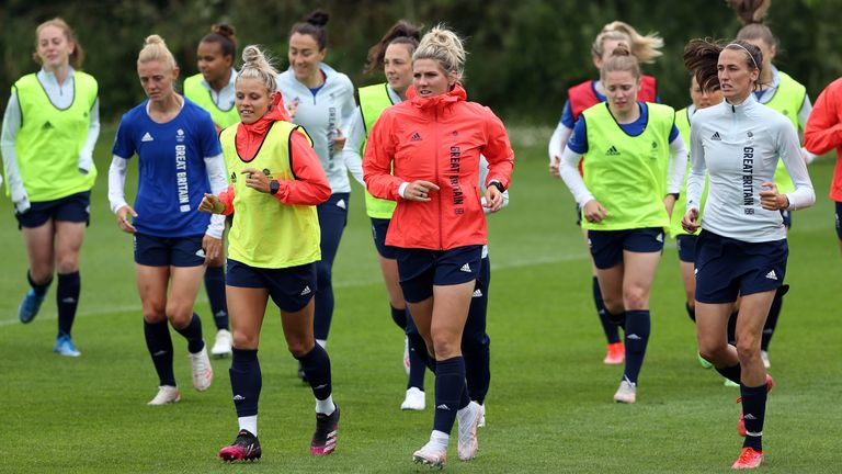 The squad have been training at Loughborough University before heading out to Tokyo