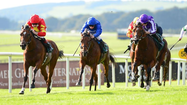 Thunder Moon wins the Vincent O'Brien National Stakes at the Curragh in September