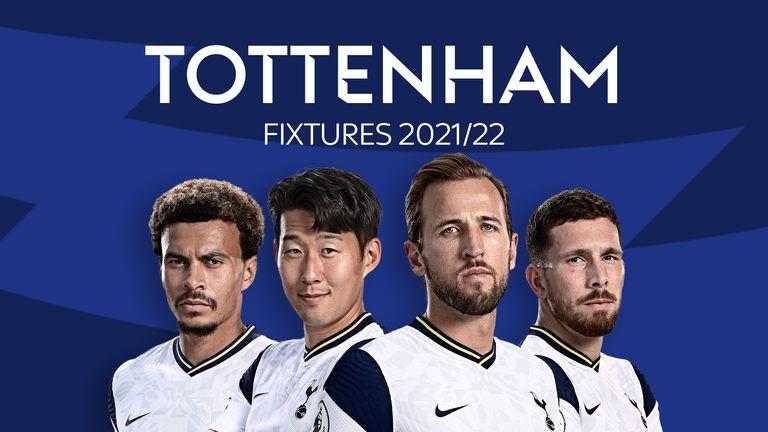 Tottenham Fixtures 2021/22
