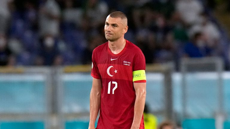 Turkey captain Burak Yilmaz says the side were left 'broken' after the 3-0 defeat to Italy