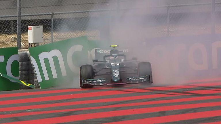 Sebatian Vettel crash
