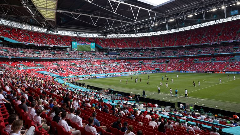 AP - Inside Wembley Stadium at Euro 2020