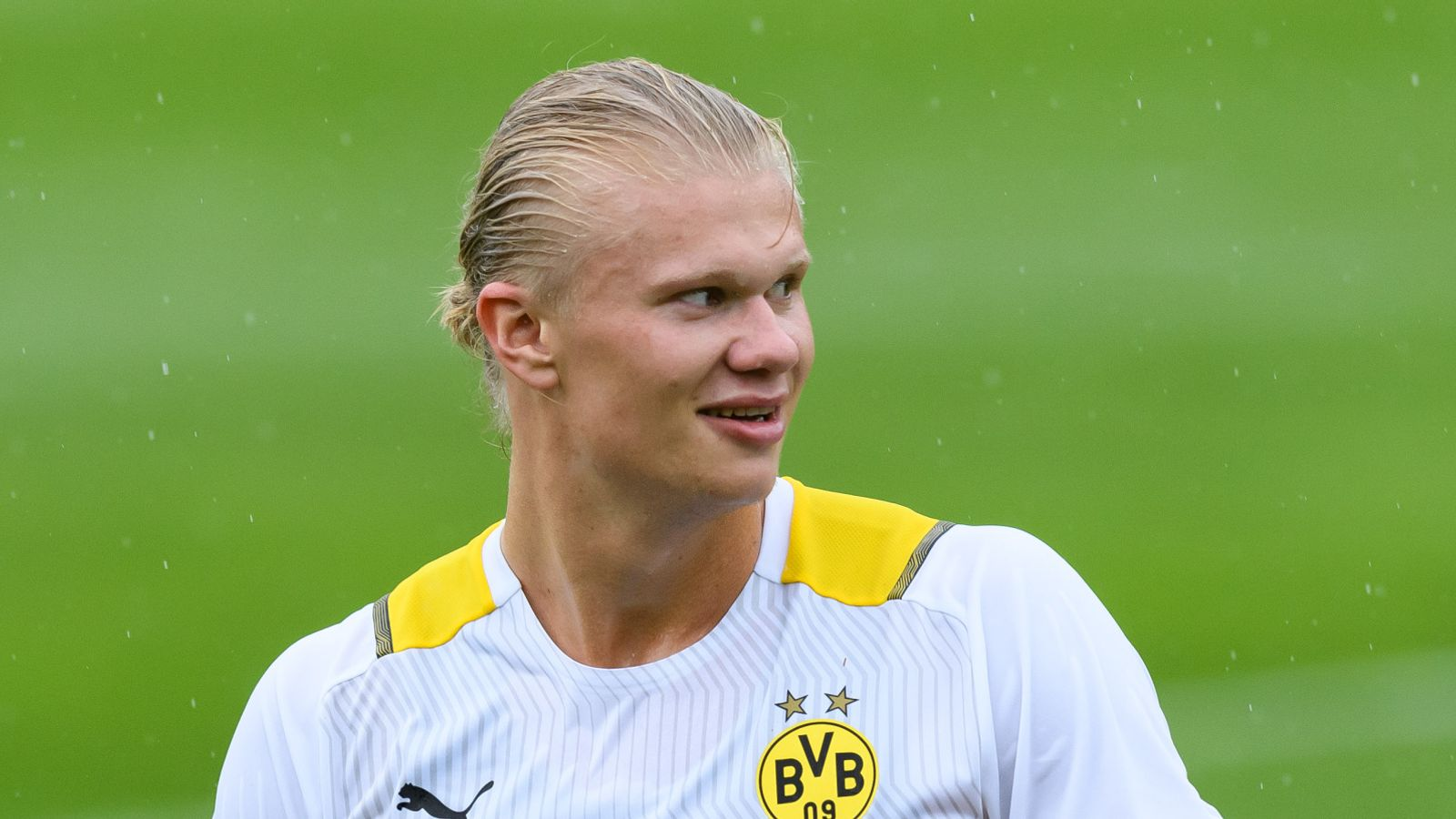 Erling Haaland: Borussia Dortmund forward plays down Chelsea transfer link, insisting 'it's just rumours'