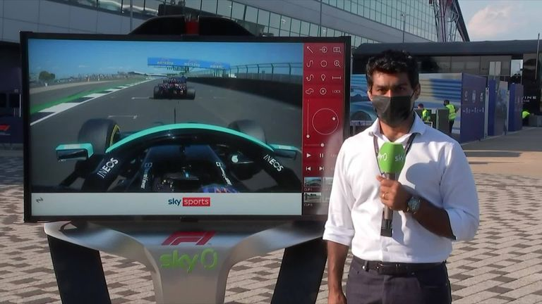 Karun Chandhok was at the SkyPad to take a closer look at how Lewis Hamilton won the British GP after colliding with Max Verstappen.