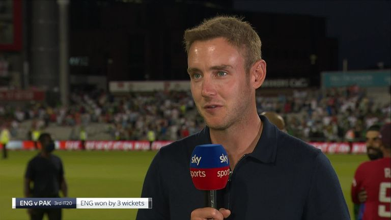 Broad was 'buzzing' after England's thrilling three-wicket win over Pakistan in the T20 series decider