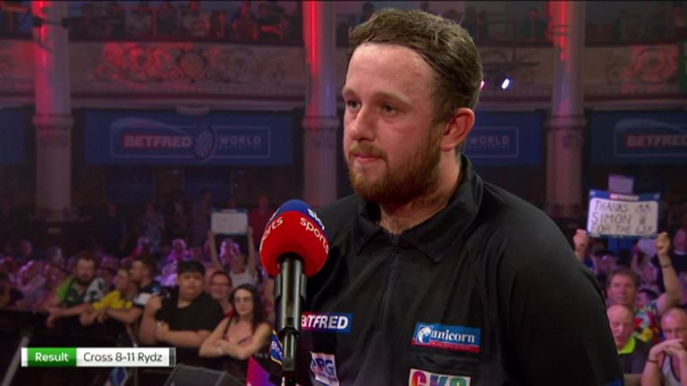 It was a night to remember for Callan Rydz as he defeated Rob Cross in the second round of the World Matchplay.