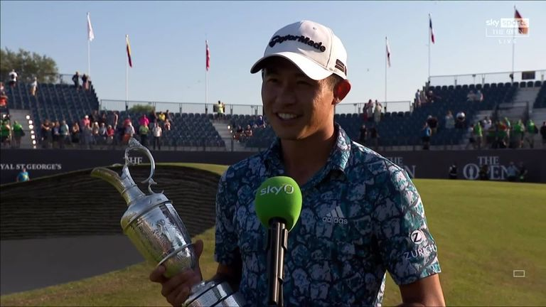 Collin Morikawa pays tribute to the fans at Royal St George's and discusses what it means to him to be crowned Champion Golfer of the Year at The Open