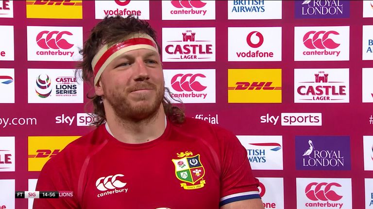 Man of the match Hamish Watson was delighted to get the British Lions tour under way with a win against the Sigma Lions but felt they still had lots to work on before the next match on Wednesday