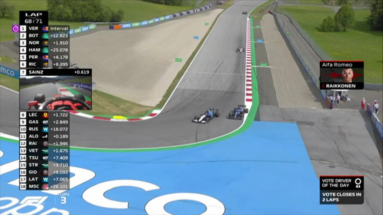 George Russell misses out on his maiden points for Williams as Fernando Alonso overtakes him.