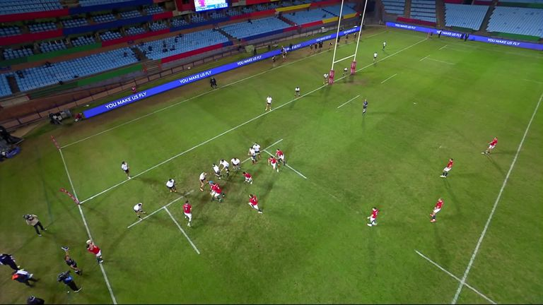 George's try via the rolling maul was his first in Lions colours, despite also touring in 2017