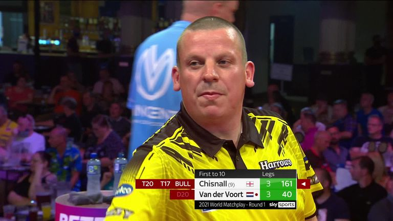 Chisnall produced this wonderful 161 checkout during his first-round win