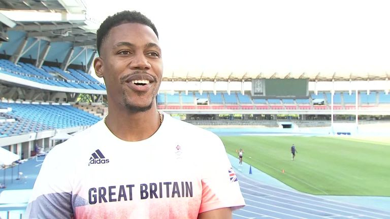 Team GB sprinter Zharnel Hughes says the men's 100m at the Tokyo Olympics is 'wide open' and is confident he can be in the mix for medals