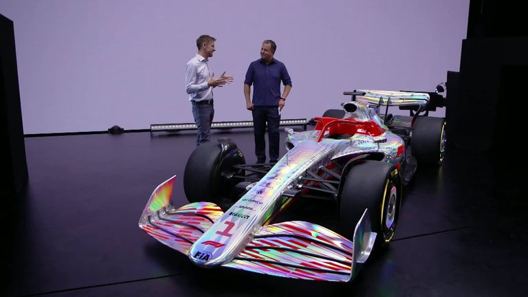 Sky F1's Jenson Button and Ted Kravitz get their first look at the new 2022 car to debut in the sport from next season.