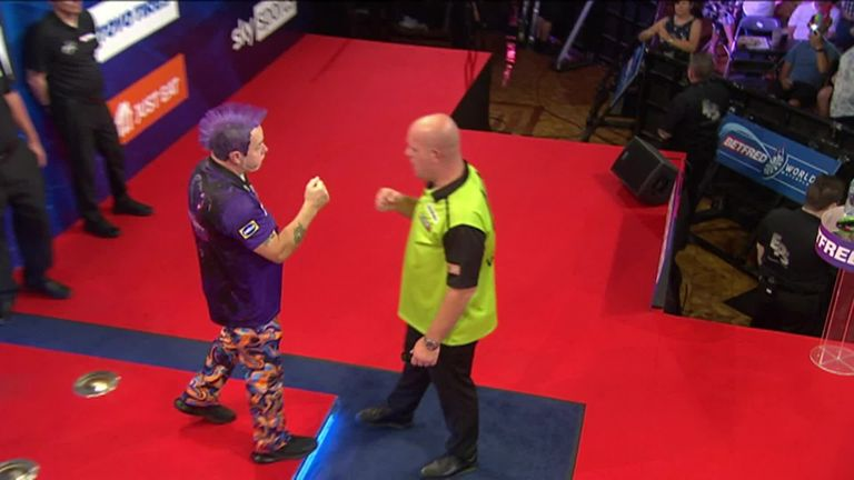 Peter Wright produces one of the greatest performances in World Matchplay history to book his place in Sunday's final against Van den Bergh