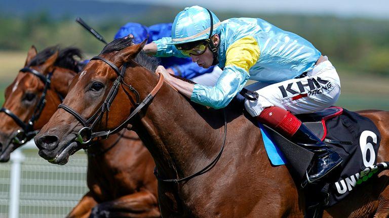 David Egan riding Nagano to victory at York