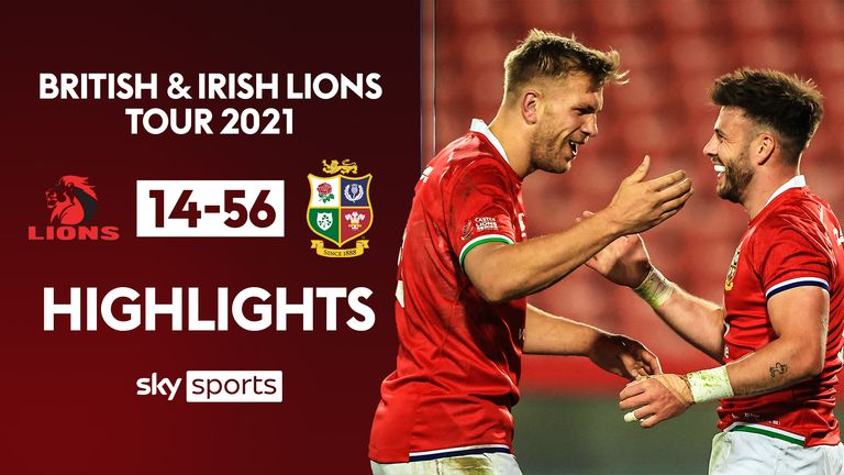 Highlights from the opening match of the British and Irish Lions' tour of South Africa as they faced Sigma Lions at Ellis Park.