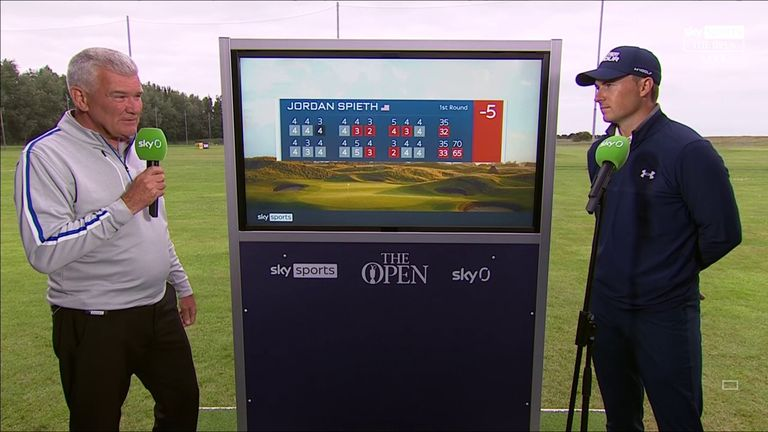 Former Open champion Jordan Spieth reflects on making a fast start to this year's contest with an opening-round 65 at Royal St George's