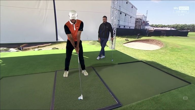 Nick Dougherty uses Sky Scope technology in The Open Zone to take a closer look at the mechanics of Rory McIlroy's swing
