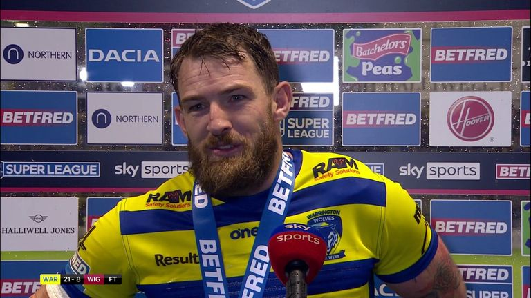 Warrington hooker Daryl Clark was named player of the match after leading his team to the win over Wigan Warriors