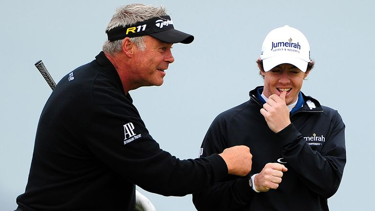 Clarke and McIlroy enjoyed a practice round together ahead of the 2011 Open