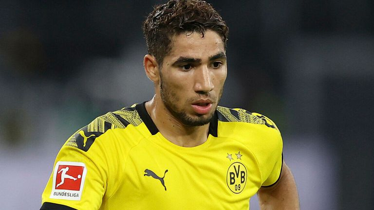 Hakimi played 73 times for Borussia Dortmund and helped them to the German Supercup in 2019