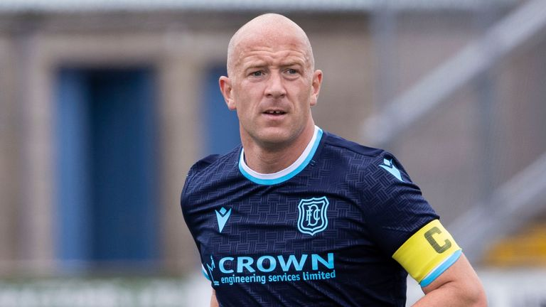 FORFAR, SCOTLAND - JUNE 26: Dundee's Charlie Adam in action during a Friendly Match between Forfar Athletic and Dundee at Station Park, on June 26, 2021, in Forfar, Scotland. (Photo by Alan Harvey / SNS Group)