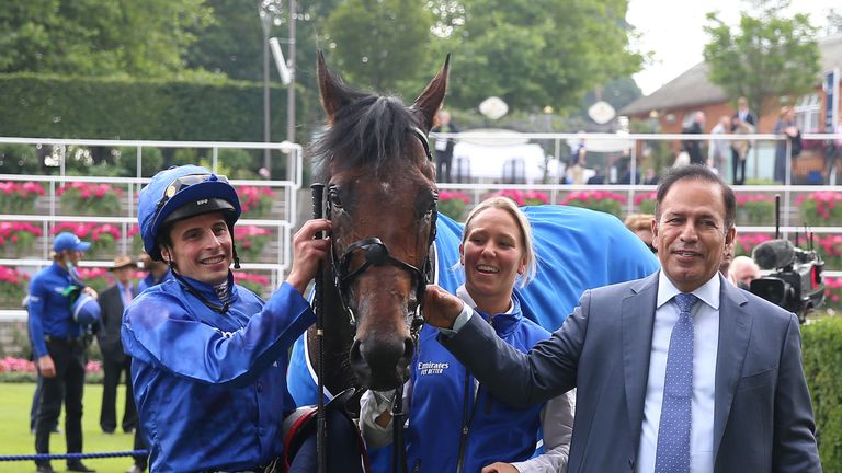 Adayar's connections pose for a picture after King George victory