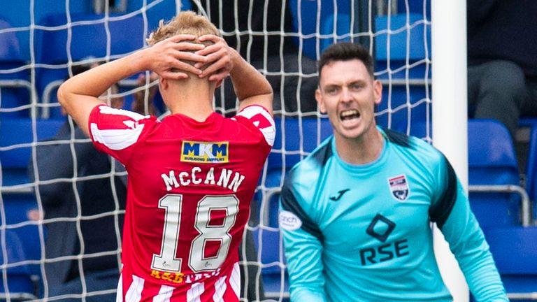 St Johnstone's Ali McCann looks dejected after missing a penalty